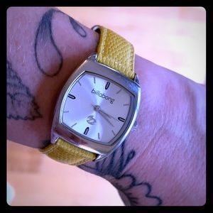 billabong stainless steel watch
